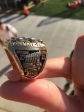 SIDE VIEW OF THE STEELER CHAMPIONSHIP RING.