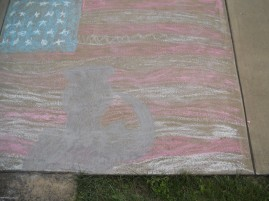 MEMORIAL DAY CHALK DRAWING BY MY NEPHEW, DYLAN EYTH. PICTURE 2.