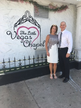 MY SISTER, ANDREA AND HER HUSBAND, BOB AT THE CHAPEL WHERE THEY RENEWED THEIR VOWS.