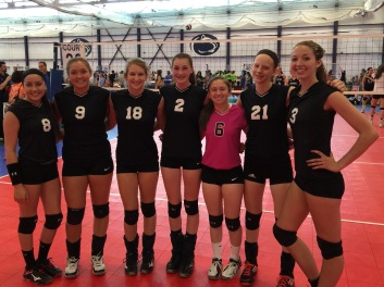 KAITLIN WITH HER VOLLEYBALL TEAM AFTER WINNING.