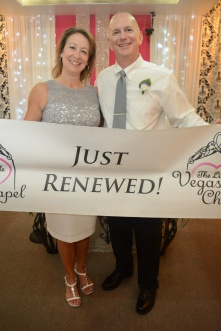 CONGRATULATIONS ANDREA AND BOB ON RENEWING YOUR VOWS.