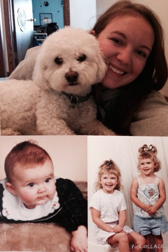 A COLLAGE OF MY NIECE, ALLISON FROM WHEN SHE WAS A BABY TO AN ADULT.
