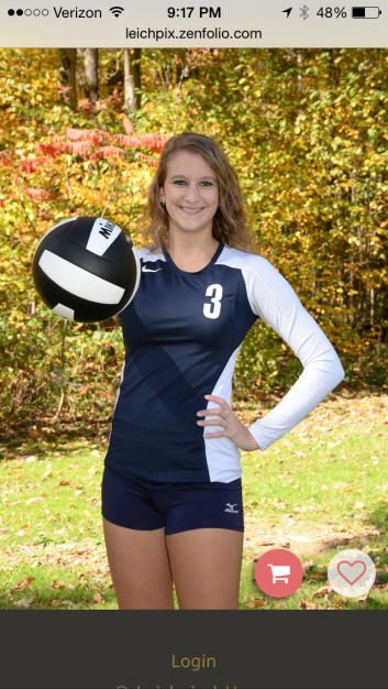 KAITLIN'S VOLLEYBALL SENIOR PICTURE.