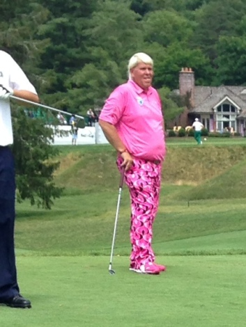 JOHN DALY ON THE GOLF COURSE.