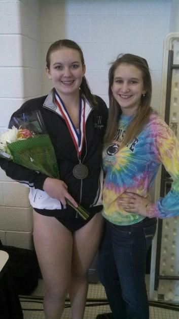 SENIOR NIGHT FOR ALLISON. ALLISON IS WITH HER YOUNGER SISTER, KAITLIN.