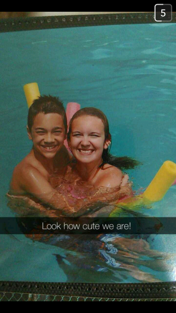 DYLAN ON THE LEFT WITH HIS COUSIN ALLISON ON VACATION.